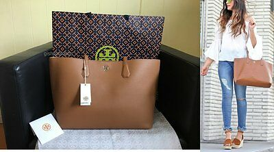 NWT Tory Burch Leather Perry Tote Bark $395 bag