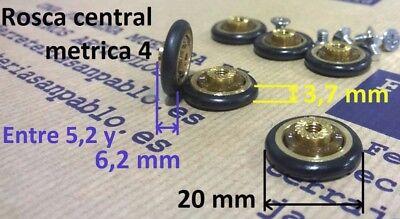 10 RUEDAS DE MAMPARA 20mm (tenemos rodamientos para ventanas) rueda rodamiento