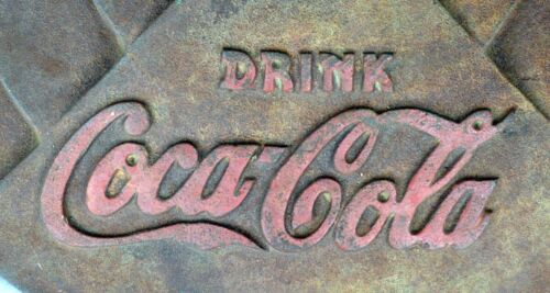 Coca Cola Cast Iron lollipop Sign Base  - Vintage