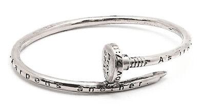 4031476 Nail Design Bangle Bracelet Scripture Proverbs 27:17 Designer Christian