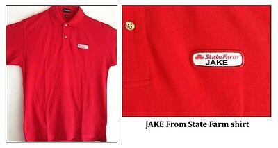 Jake From State Farm Insurance Red Polo Shirt Funny Adult Costume Cosplay