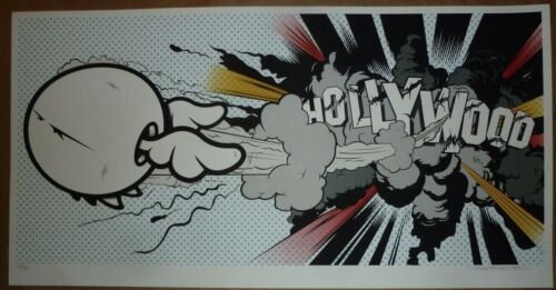 D*FACE HOLLYWOOD BOOM SIGNED & NUMBERED ORIGINAL 8 COLOR SCREEN PRINT 112/150
