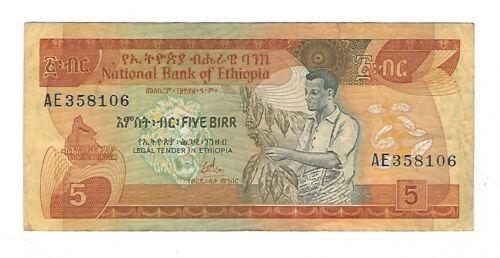 Ethiopia - Five (5) Birr  1976