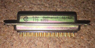 5 Piece Lot 17db-25s Amphenol D-sub Standard Connectors 25p Recpt Solder Cup