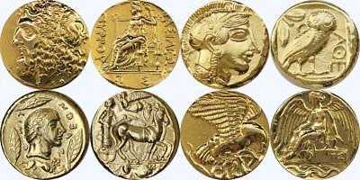 Zeus Nike Athena Apollo 4 Famous Greek Coins Percy Jackson Fans (SET2GREEK-G)