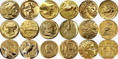 Alexander Athena Zues Arethusa Apollo 9 Famous Greek Coins PercyJackson (9SET-G)
