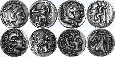 Alexander, 4 Famous Greek Coins, Percy Jackson Fans, greek Mythology (4ALEX-S)