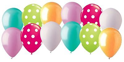 12 pc Sweet Birthday Inspired Polka Dot Latex Balloon Party Decoration 1st Candy](Polka Dot Decorations Birthday)