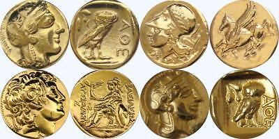 Athena Pegasus Alexander athena Drachm 4 Greek Coins Percy Jackson (3GREEKSET-G)