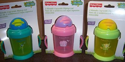 Fisher Price 2 Handle Cup w/ Flip Top Lid Animals of the Rainforest, Baby Shower - Fisher Price Animals Of The Rainforest