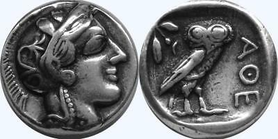 Athena and Owl Greek Coin Annabeth'S Mother Precy Jackson Teen Gift (PJ77-S)
