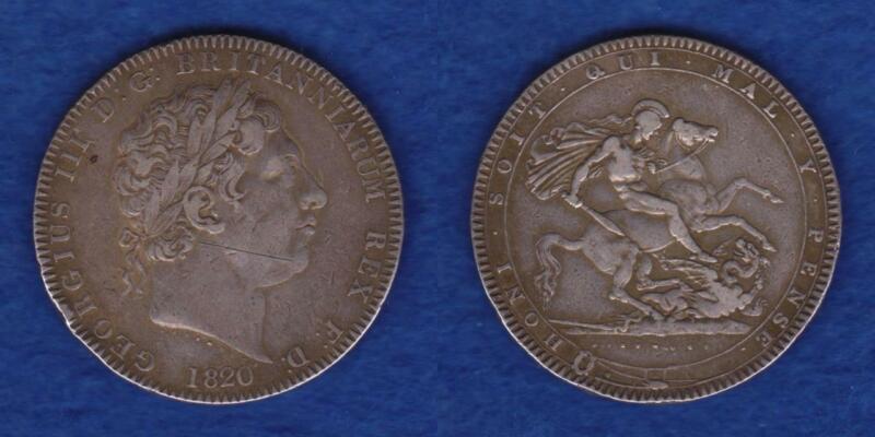 GREAT BRITAIN SILVER CROWN 1820  ---  RJZC