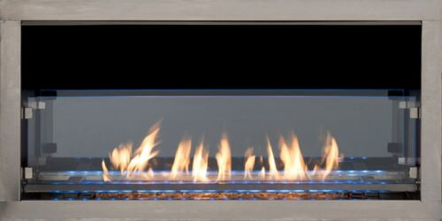 """60"""" Superior VRE 4660 Vent Free Outdoor Linear Fireplace Modern Style"""