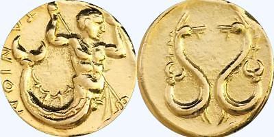 Triton & Sea Monsters Son of Poseidon Greek Coin, Percy Jackson Teen Gift (14-G)