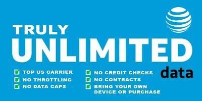 GRANDFATHERD UNLIMITED AT&T DATA Plan $34.99 with Complimentary Mobile Hotspot