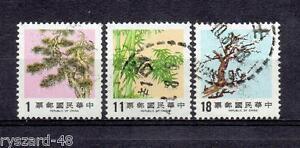 China (Taiwan) 1986 - Mi 1657/9 Pine, Bamboo and Plum - Kędzierzyn Koźle, OPOLSKIE, Polska - China (Taiwan) 1986 - Mi 1657/9 Pine, Bamboo and Plum - Kędzierzyn Koźle, OPOLSKIE, Polska