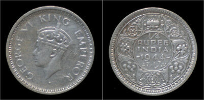 India King George VI 1/4 rupee 1944