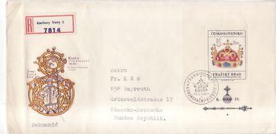Hradschin (CSSR Tschechoslowakei Block  24 FDC  Schätze auf der Prager Burg Hradschin -2 )