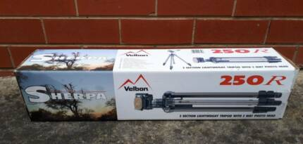 Velbon Sherpa 250R 3 Section Lightweight Tripod with 3 Way Photo