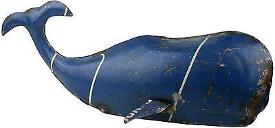 HomArt Reclaimed Metal Decorative Whale NEW