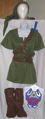Link Costume Twilight Princess for kids Zelda Cosplay custom made IN AMERICA - Princess Zelda Child Costume