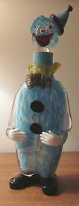 Vintage Art Glass Clown Decanter