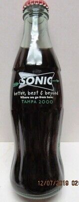 LIMITED EDITION SONIC 2000 TAMPA NATIONAL CONVENTION -COCA-COLA 8 OZ BOTTLE