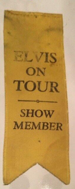 Elvis Presley Original Back Stage Pass - Elvis On Tour - Yellow