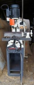 Cast Iron Floor Standing Industrial Mortice Machine from Axminster, Little used, Excellent condition