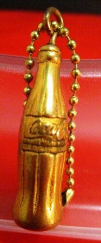 vintage Brass COCA-COLA BOTTLE KEYCHAIN circa 1970s ~ UNUSED & NICE!