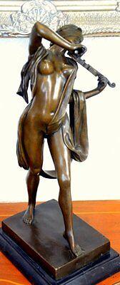 erotischer Bronze Akt signiert  Preiss Bronzefigur Bronzeskulptur Bronzefiguren