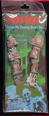 Disney DLR Resort Haunted Mansion Starter Set of 8 Pins & Lanyard New