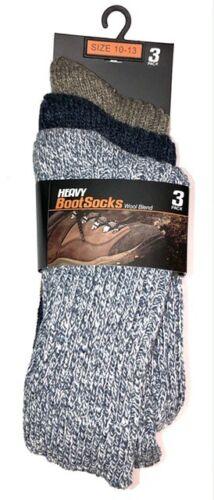 Heavyweight Ragg Wool Socks Size 10-13 - 3 pair