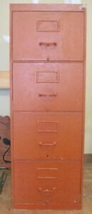 NEED STORAGE? METAL 4-DRAWER TALL BOY FILING CABINET