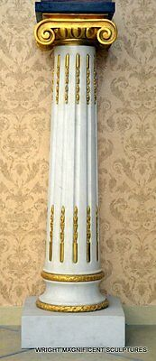 Große ca. 140 kg Marmorsäule Marmor Säule auch mit  Echtgold Applikationen