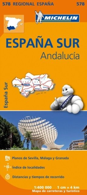 Andalusia Regional Map 578 (Michelin Regional Maps) (Map), Michel. 9782067184459