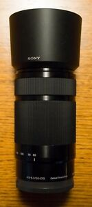 Sony 55-210mm telephoto zoom lens for Sony mirrorless cameras