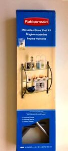 Rubbermaid Marseilles Glass Shelf Kit