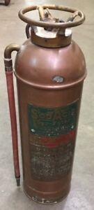 Antique Copper Fire Extingister