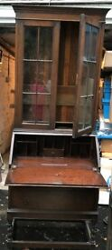 A genuine antique Bureau/Display cabinet