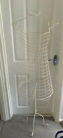 Vintage style wire mannequin clothes jewellery hanger - good condition