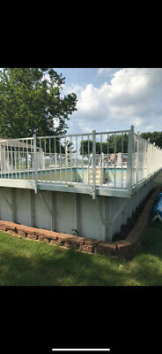Kayak Above Ground Pool With Deck 20' x 34' (16' x 24' x 4' swimming area)