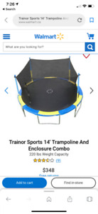 14 Ft Trampoline and enclosure
