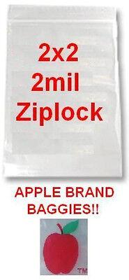 1000 Apple Brand Baggies 2x2 2mil Clear Ziplock Bags 1000 2 2020 2x2 2 Bag