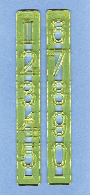 FMM - Alphabet Cutter Set Große Zahlen