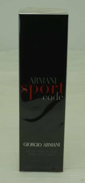 GIORGIO ARMANI SPORT CODE AFTER SHAVE BALM 100mL/3.4 FL. OZ.