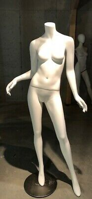 Free Shipping Used Fiberglass Headless Female Mannequin Matte White