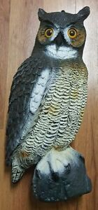 Hard Plastic Owl 21 inches Tall