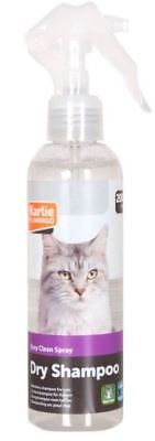 Karlie Katzen Tocken Shampoo Dry Spray Kämmhilfe 200ml (Liter 15€)