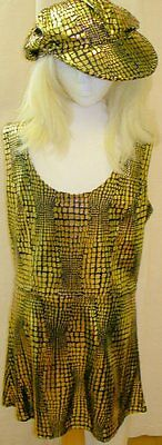 Fancy Dress Adult Female 1960s 1970s Disco Diva Costume Size 12 NEW P2681 - Female Disco Costumes